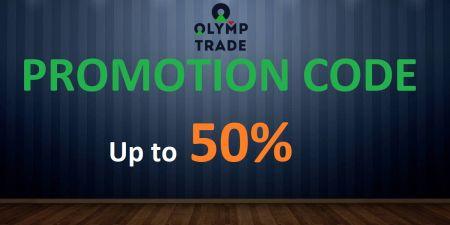 Código promocional da Olymp Trade - Bônus de até 50%