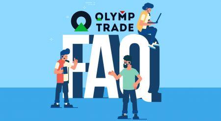 Perguntas frequentes (FAQ) de verificação, depósito e retirada na Olymp Trade