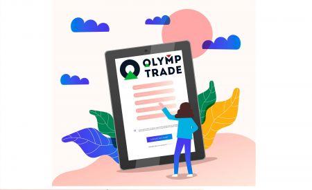 Como abrir uma conta comercial na Olymp Trade