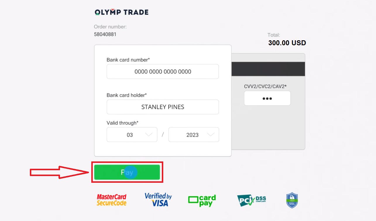 Como depositar e negociar na Olymp Trade